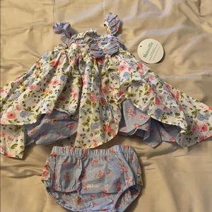 Nannette Baby Dress and Bloomers